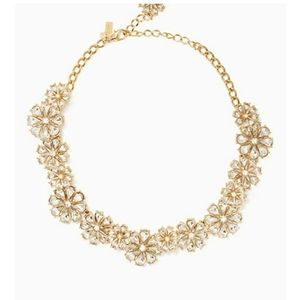 Kate Spade Crystal Floral Necklace NWT